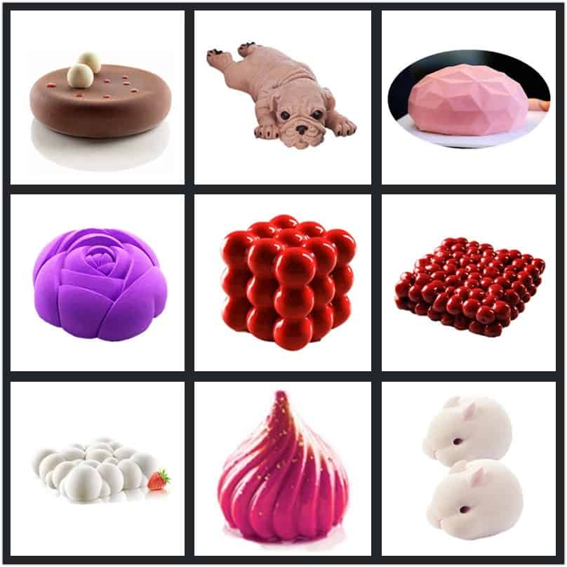 Silicone Molds 3D Cake Shapers