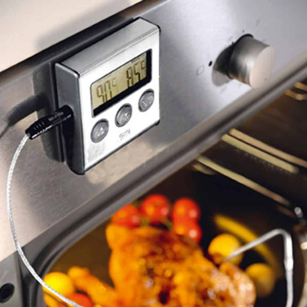 2-in-1 Oven Thermometer W/ Detachable Probe And Timer